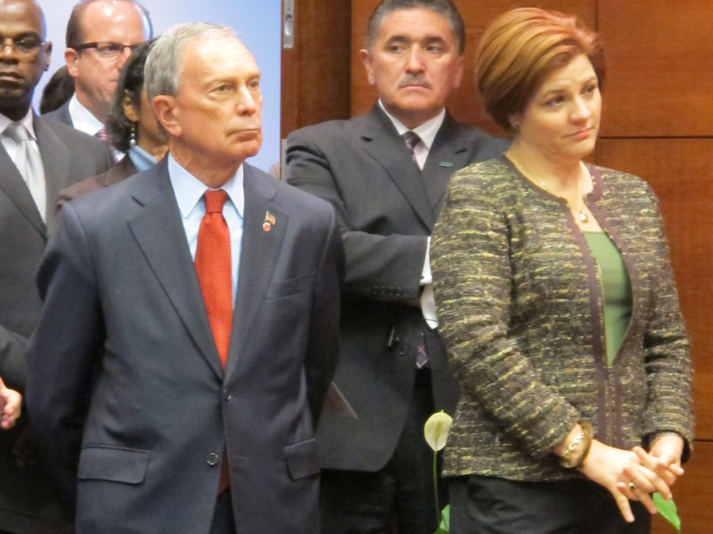 Michael Bloomberg and Christine Quinn