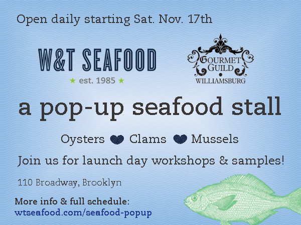 W&T Seafood Pop-Up Stall
