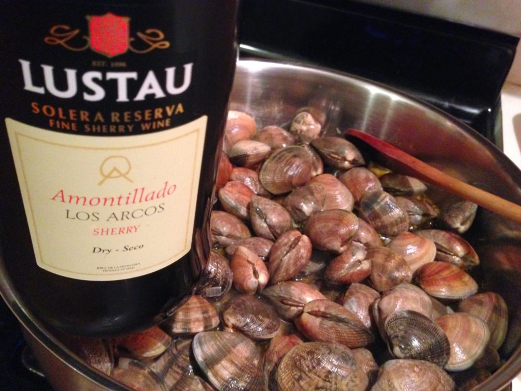 manila clams and sherry