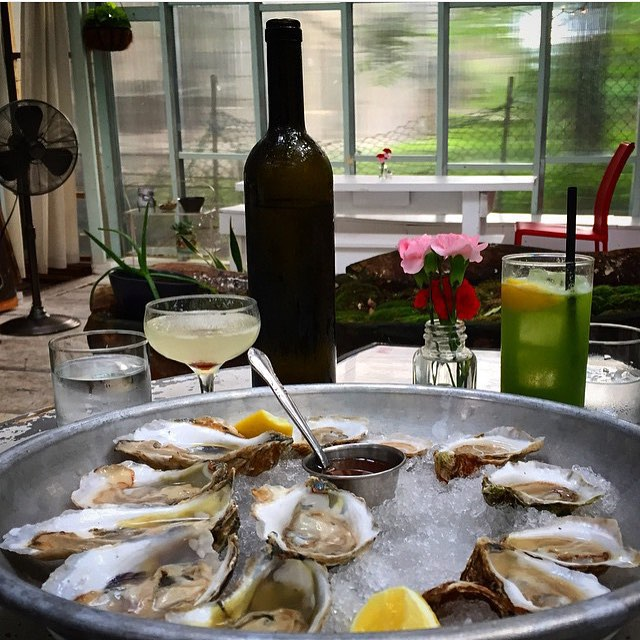 The Bounty oysters