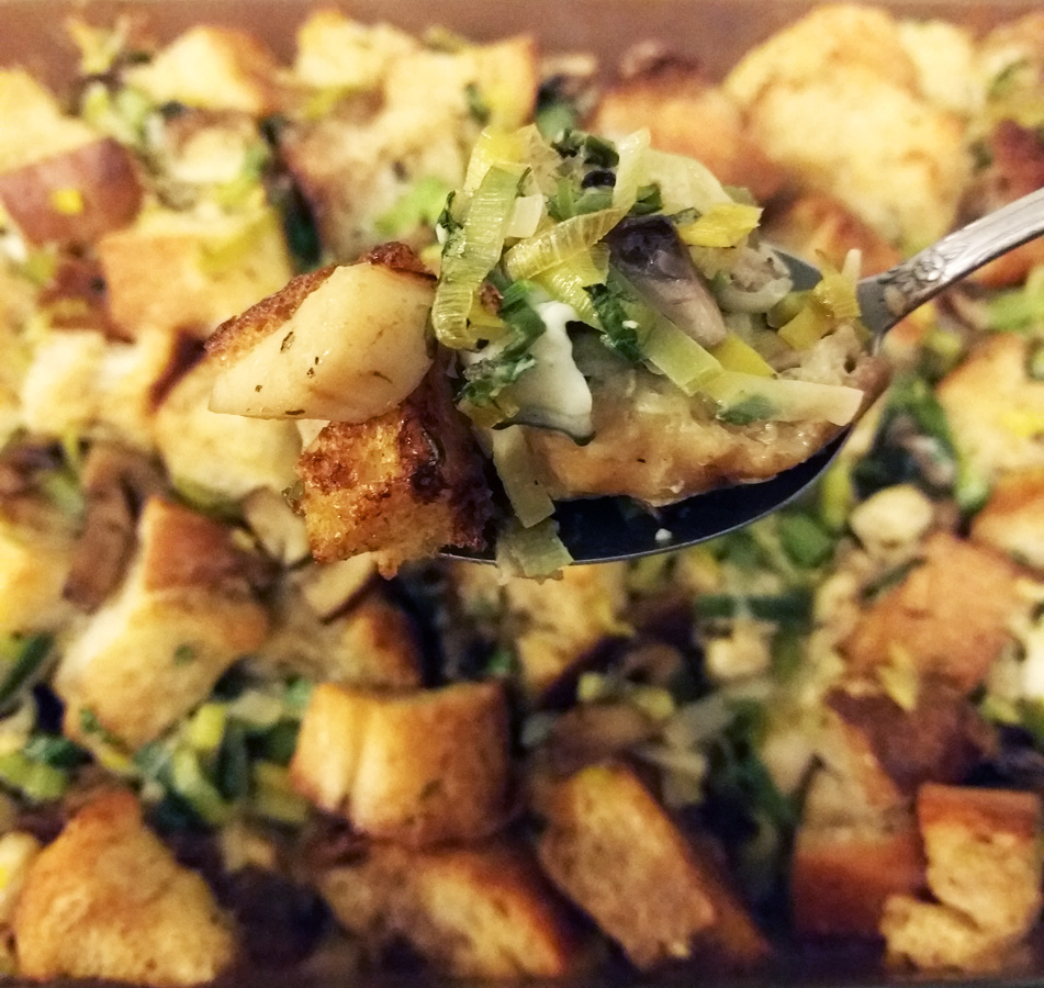Oyster Stuffing Bite